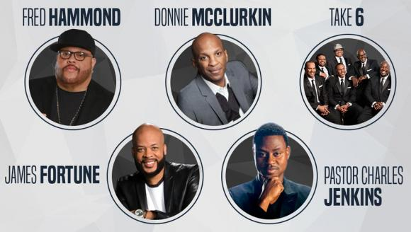 Festival Of Praise: Fred Hammond, Donnie McClurkin, Take 6, James Fortune & Charles Jenkins at Shea's Performing Arts Center